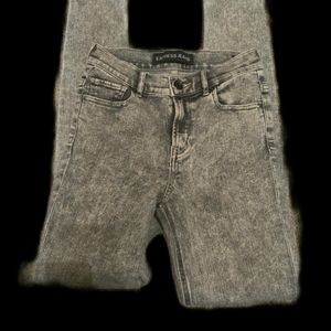 Express jeans size 2r black/gray tapered leg